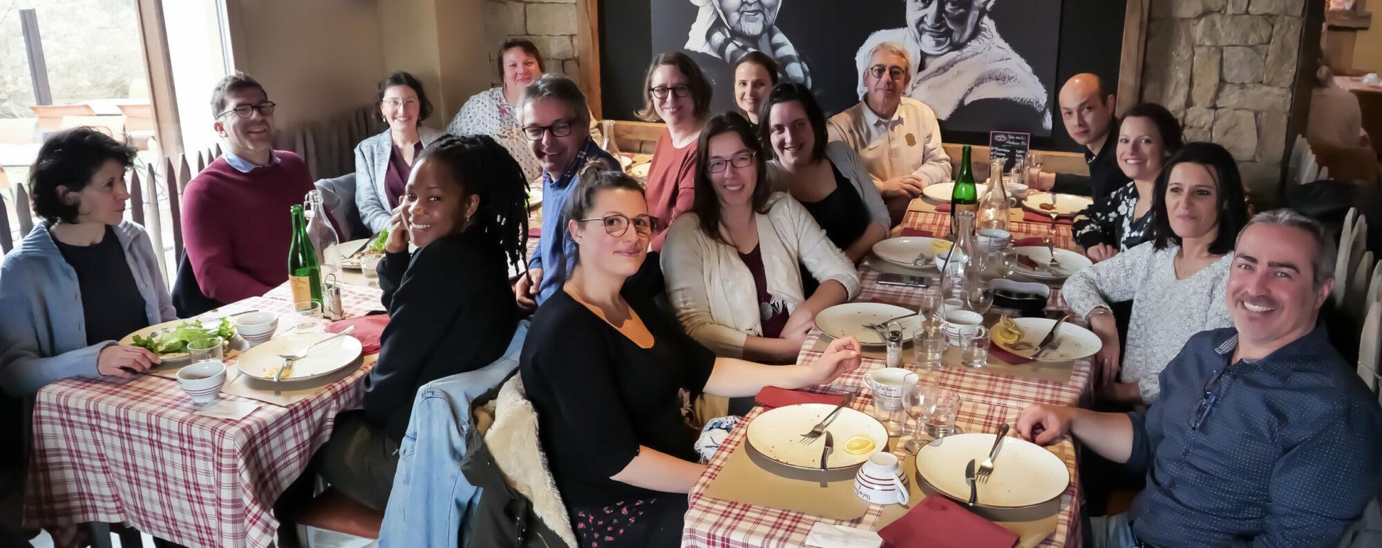 photo de groupe 2 restaurant